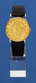Timepieces:Wristwatch, Eska $20 Gold Coin Wristwatch. ...