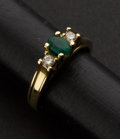 Estate Jewelry:Rings, Emerald & Gold Ring. ...