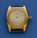 Timepieces:Wristwatch, Rolex Ref. 3131 14k Rose Gold Bubbleback For Restoration. ...