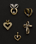 Estate Jewelry:Pendants and Lockets, Five Diamond Pendants. ... (Total: 5 Items)
