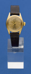 Timepieces:Wristwatch, Rolex 14k Gold Lady's Oyster Perpetual, circa 1968. ...