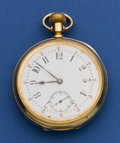 Timepieces:Pocket (post 1900), Swiss High Grade Heavy 14k Gold 17 Jewel Pocket Watch. ...