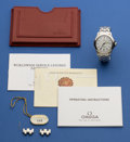 Timepieces:Wristwatch, Omega Seamaster Automatic With Papers. ...