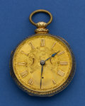 Timepieces:Pocket (pre 1900) , George Hedger (London) 14k Gold Lever Fusee For Repair. ...