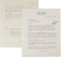 Movie/TV Memorabilia:Memorabilia, A Marilyn Monroe-Related Letter, 1958.... (Total: 2 Items)
