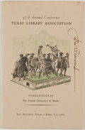 Books:Signed Editions, [Tom Lea and José Cisneros]. SIGNED. 47th Annual Conference, Texas Library Association. Timelessness, The Fourth Dimensi...