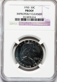 1950 50C -- Improperly Cleaned -- NGC Details. Proof. NGC Census: (5/1870). PCGS Population (5/3031). Mintage: 51,386. N...