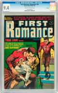 Golden Age (1938-1955):Romance, First Romance #20 File Copy (Harvey, 1953) CGC NM 9.4 Cream tooff-white pages....