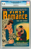Golden Age (1938-1955):Romance, First Romance #19 File Copy (Harvey, 1952) CGC NM 9.4 Cream tooff-white pages....