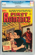 Golden Age (1938-1955):Romance, First Romance #11 File Copy (Harvey, 1952) CGC NM 9.4 Cream tooff-white pages....