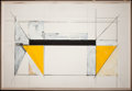 Fine Art - Work on Paper:Drawing, BRUCE ROBBINS (American, b. 1948). Bridge Variation #9,1982. Mixed media on paper . 40 x 60 inches (101.6 x 152.4 cm). ...