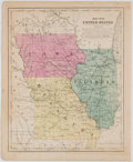 Books:Maps & Atlases, Map No. 8. United States, showing Iowa, Illinois, and Missouri from Smith's Atlas. New York: Daniel Burgess, 185...