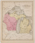 Books:Maps & Atlases, Map No. 9. United States, showing Michigan and Wisconsin from Smith's Atlas. New York: Daniel Burgess, 1855. Lea...