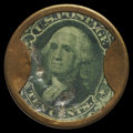 Encased Postage: , HB-208 EP-128 Reed-SA10 10¢ Sands' Ale Extremely Fine.. ...