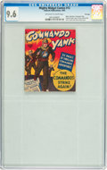 Golden Age (1938-1955):War, Mighty Midget Comics - Commando Yank #12 File Copy (Fawcett, 1943)CGC NM+ 9.6 Off-white to white pages....