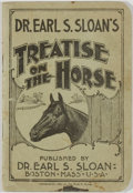 Books:Natural History Books & Prints, Earl S. Sloane. Treatise on the Horse. Boston: Sloan, 1897. Twelvemo. 56 pages. Publisher's wrappers with minor rubb...