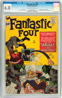 Fantastic Four #2 (Marvel, 1962) CGC FN 6.0 Off-white to white pages