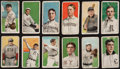 "Baseball Cards:Lots, 1909-11 T206 White Border Tobacco Collection (12) - All ""Sovereign""Brand Backs! ..."