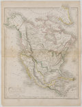 Books:Maps & Atlases, Lovely Engraved and Hand-Colored Map of North America with Texas as a Republic. London: Longman, [ca. 1842]. Measures 11 x 8...