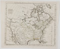 Books:Maps & Atlases, T. Kitchin. Engraved Map of North America with Slight Hand-Coloring. [London: ca. 1780]. Measures 8 x 9.75 inches. Three fol...