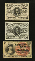 Fractional Currency:Third Issue, 5¢ Third Issue and 10¢ Third Issue.. ... (Total: 3 notes)