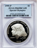 Modern Issues, 1995-P $1 Special Olympic Silver Dollar PR69 Deep Cameo PCGS. PCGSPopulation (1276/50). NGC Census: (1229/41). Numismedi...