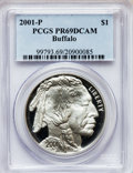 Modern Issues: , 2001-P $1 Buffalo Silver Dollar PR69 Deep Cameo PCGS. PCGSPopulation (16740/740). NGC Census: (12166/1527). Numismedia Ws...