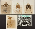 Football Collectibles:Photos, Vintage Notre Dame Fighting Irish Football Signed Photographs Lot of 5....