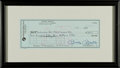 Autographs:Checks, 1986 Mickey Mantle Signed Check, PSA/DNA Mint 9....