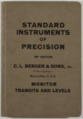 Books:Science & Technology, C. L. Berger & Sons. Standard Instruments of Precision: Engineering, Surveying & Mining Instruments. Bos...