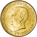 Commemorative Gold: , 1916 G$1 McKinley MS66 PCGS. Charles Barber created a thirdportrait of President McKinley, after his inaugural medal and L...