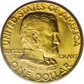Commemorative Gold: , 1922 G$1 Grant no Star MS64 PCGS. The portrait of Ulysses S. Grantis adapted from a portrait by famed Civil War-era photog...