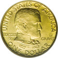 Commemorative Gold: , 1922 G$1 Grant with Star MS65 NGC. The incused star above GRANT onthe obverse is a marketing ploy, created only to sell mo...