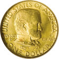 Commemorative Gold: , 1922 G$1 Grant with Star MS66 NGC. One of just 5,016 With Starexamples produced in 1922. The frosty butter-yellow surfaces...