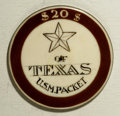 Casino and Gaming Tokens: , 1870 MS Star of Texas Gaming Chip. This is a $20 denomination gaming chip used aboard the U.S.M Packet Star of Texas ri...