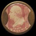 Encased Postage: , HB-30 EP-34a Reed-AS03SM 3¢ Ayer's Sarsaparilla Medium Ayer's AboutNew.. ...