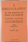 Books:Reference & Bibliography, [Samuel Taylor Coleridge, subject]. Thomas J. Wise. ABibliography of the Writings in Prose and Verse of Samuel TaylorC...