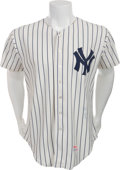 Baseball Collectibles:Uniforms, 1982 Yogi Berra Game Worn New York Yankees Jersey....