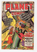 Golden Age (1938-1955):Science Fiction, Planet Comics #64 (Fiction House, 1950) Condition: GD/VG....