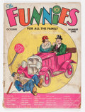 Platinum Age (1897-1937):Miscellaneous, The Funnies #1 (Dell, 1936) Condition: FR/GD....