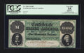 Confederate Notes:1861 Issues, T1 $1000 1861 PF-1 Cr. 1 CC.. ...