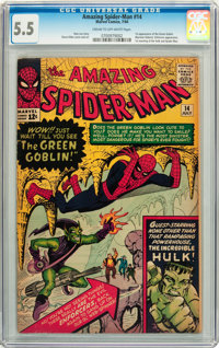 The Amazing Spider-Man #14 (Marvel, 1964) CGC FN- 5.5 Cream to off-white pages