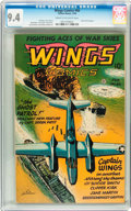 Golden Age (1938-1955):War, Wings Comics #66 (Fiction House, 1946) CGC NM 9.4 Cream to off-white pages....