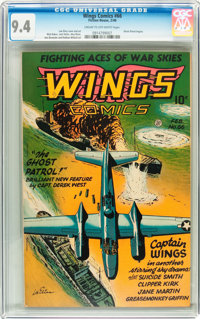 Wings Comics #66 (Fiction House, 1946) CGC NM 9.4 Cream to off-white pages