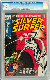 The Silver Surfer #7 (Marvel, 1969) CGC NM- 9.2 White pages
