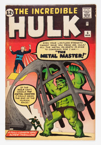 The Incredible Hulk #6 (Marvel, 1963) Condition: FN-