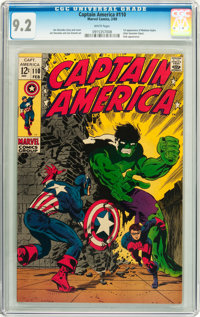 Captain America #110 (Marvel, 1969) CGC NM- 9.2 White pages
