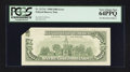 Error Notes:Foldovers, Fr. 2173-C $100 1990 Federal Reserve Note. PCGS Very Choice New64PPQ.. ...