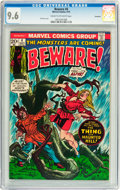 Bronze Age (1970-1979):Horror, Beware #4 Savannah pedigree (Marvel, 1973) CGC NM+ 9.6 Cream tooff-white pages....