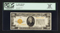 Small Size:Gold Certificates, Fr. 2402 $20 1928 Gold Certificate. PCGS Apparent Very Fine 35.. ...